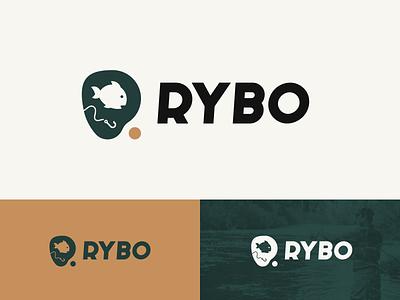 Rybo fishing fish design logo