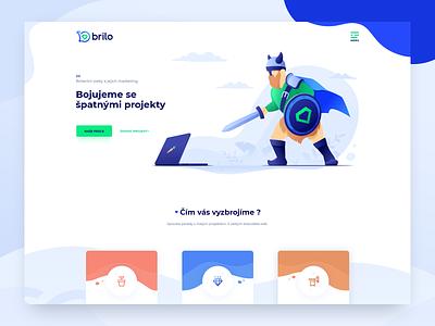 brilo.team viking knight design logo web