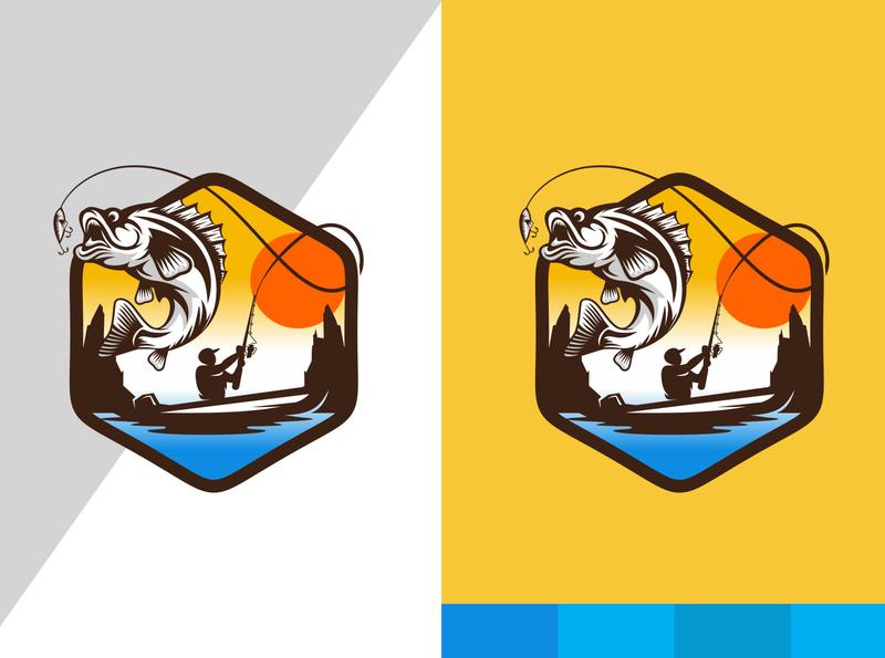 Fish LOGO DESIGN logos typography illustrator illustration vector logo design company logo branding fish logo