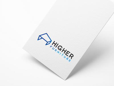 Higher Furniture typography illustrator illustration vector logo design company logo branding furniture design furniture higher furniture higher furniture