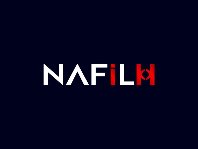 NAFILH lettering brand logos typography illustrator illustration vector logo design company logo branding nafilh nafilh