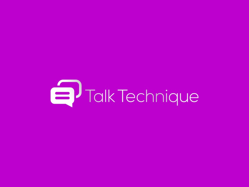 Talk Technique character lettering brand typography minimal logos illustrator illustration vector logo design company logo branding talks talk talk technique talk technique