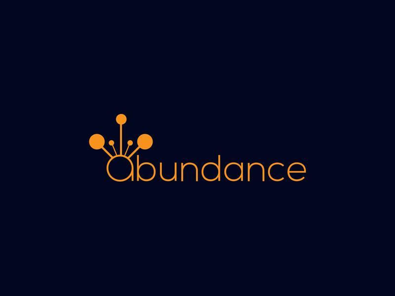 Abundance LOGO character minimal lettering brand logos typography illustrator illustration vector logo design company logo branding abundance