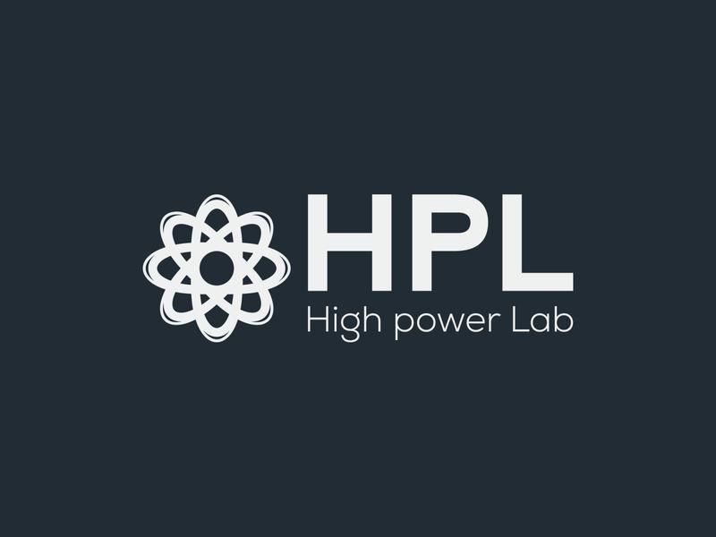 HPL (High Power Lab) typography high power lab high power lab illustrator illustration vector logo design company logo branding hpl