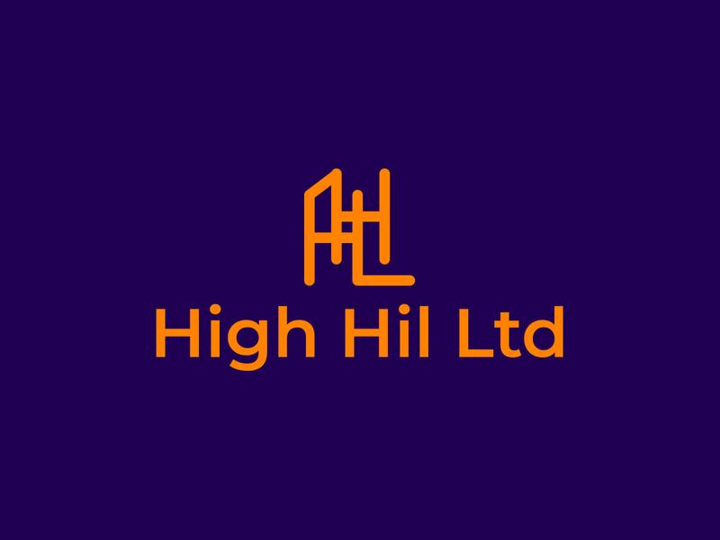 High Hil Ltd brand logos typography illustrator vector logo design company logo branding illustration high hil ltd high hil ltd