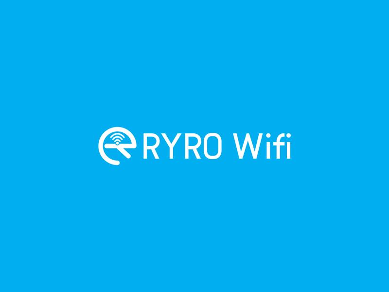 RYRO Wifi Logo logos typography illustrator illustration vector logo design company logo branding ryro wifi ryro wifi