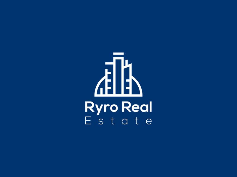 Ryro Real Estate brand logos typography illustrator illustration vector logo design company logo branding real estate logo real estate