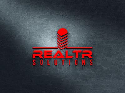 REALTR SOLUTIONS logos typography illustrator illustration vector logo design company logo branding realtr solutions realtr solutions