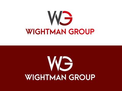 WIGHTMAN GROUP LOGO logos typography illustrator illustration vector logo design company logo branding wightman group wightman group