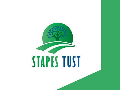 STAPES TUST LOGO logos illustrator illustration vector logo design typography company logo branding stapes tust logo stapes tust logo