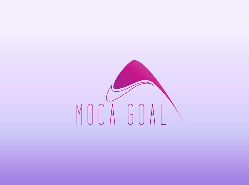 MOCA GOAL LOGO brand logos typography illustrator illustration vector logo design company logo branding moca goal moca goal