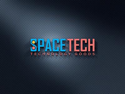 SPACE TECH LOGO typography illustrator illustration vector logo design company logo branding technology icons technology logo technology