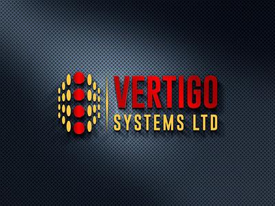 VERTIGO SYSTEMS LTD brand logos typography illustrator illustration vector logo design company logo branding