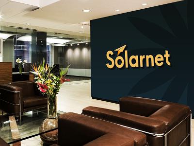 Solarnet Logo brand typography logos illustrator illustration vector logo design company logo branding
