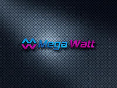 Mega Watt LOGO logos typography illustrator illustration vector logo design company logo branding mega watt logo mega watt logo