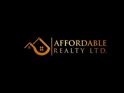 AFFORDABLE REALTY LTD illustrator illustration vector design logo branding company logo real estate branding real estate agent realestate real esate logo design