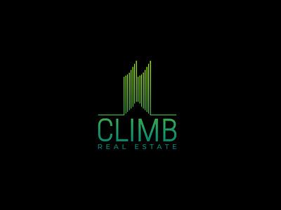 CLIMB REAL ESTATE LOGO logos typography illustrator illustration vector logo design company logo branding real estate branding real estate agent realestate real esate logo design