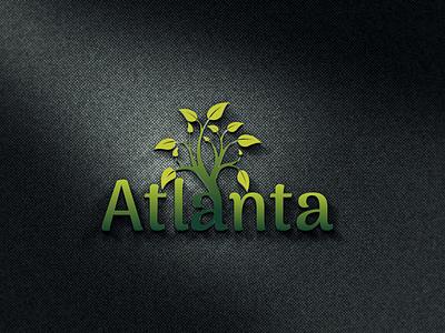 Atlanta LOGO brand logos typography illustrator illustration vector logo design company logo branding