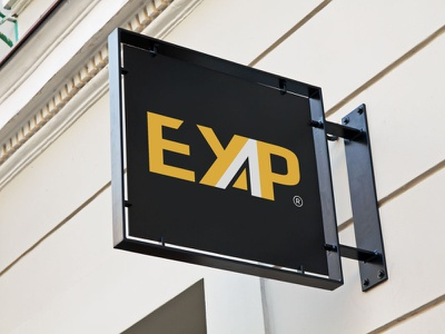 EYAP LOGO typography illustrator minimal illustration vector logo design company logo branding eyap logo hotel eyap logo hotel