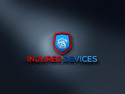 INJURED DEVICES LOGO brand logos typography illustrator logo illustration vector design company logo branding