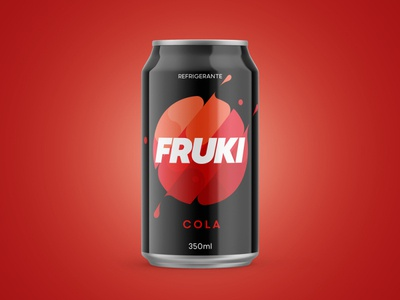 Fruki Cola redesign branding fruki soda cola mockup graphic food packaging package design