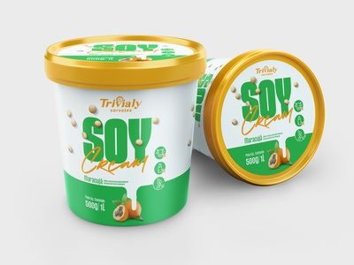 Soy Cream - Passion Fruit