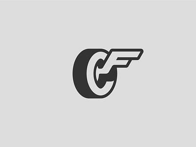 Rejected Carfrac Logos rim automotive wing wheel car tire vehicle badge mark identity branding logo