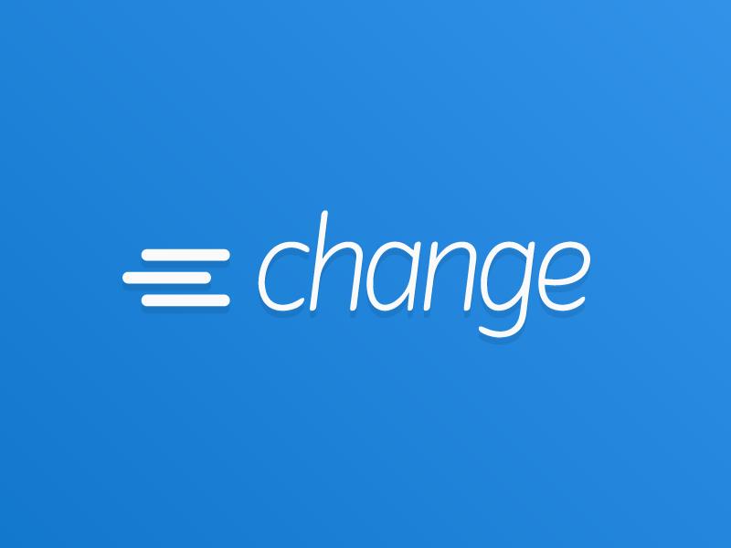 Change Bank change logo logotype icon coins money bank banking