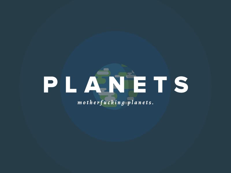 Planets dribbble
