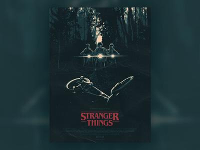 Stranger Things Poster demogorgon will byers upside down tv stranger things scary netflix movie horror eleven 80s 1980s