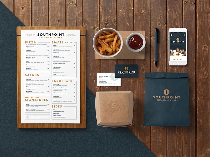 Southpoint branding mockup dribbble  sized