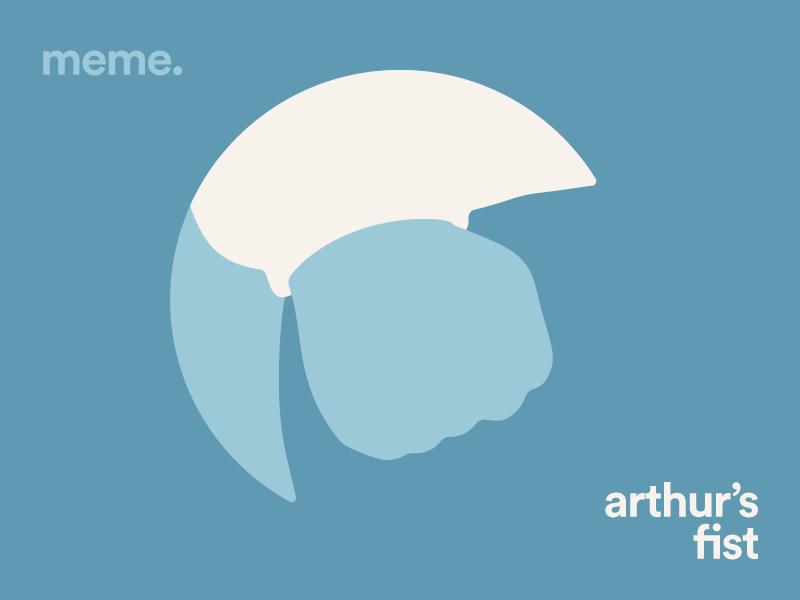 Arthur's Fist pbs arthur read dw blue meme arthur
