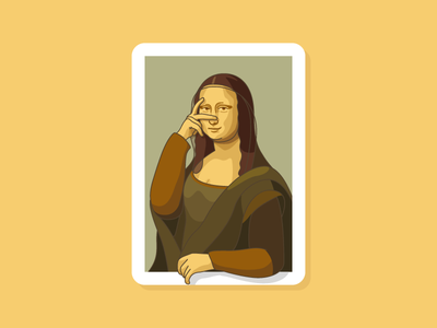 Mona Lisa ratchet sign fierce sign iconic famous painting art da vinci davinci leonardo da vinci italy mona lisa