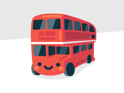 Double-Decker Bus sticker kawaii britain england bus double decker uk london