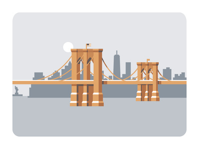 Brooklyn Bridge simple building geometric world trade center borough manhattan bkln bklyn big apple nyc city new york