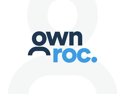 OWN Rochester Logo geometric blue design non-profit person rochesterny ownroc icon line icon