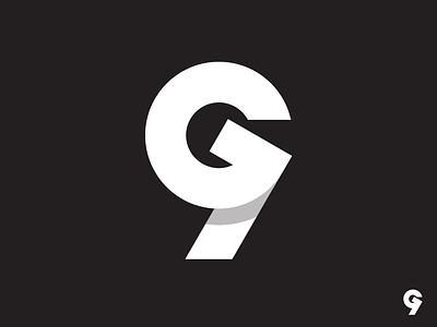 """G"" + ""9"" Logo Concept group 9 icon letter g g nine 9 symbol mark logotype logo identity"