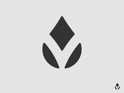 """""""V"""" + """"Flower"""" + """"Water"""" Logo Concept"""