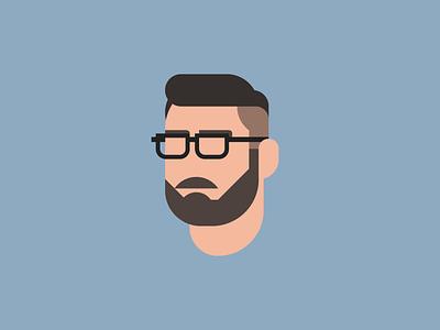 Self Portrait mustache self portrait self geometric flat head beard glasses person face portrait