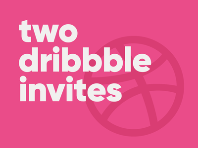 Two Dribbble Invites gilroy dribbble invite join player draft dribbble invite free giveaway