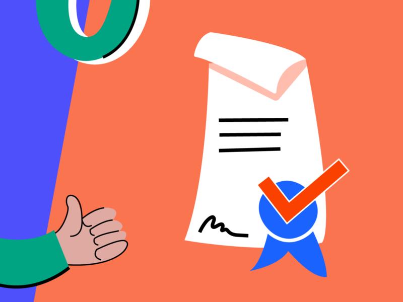 Get a Certificate ux design visual design web ui vector illustration certificate