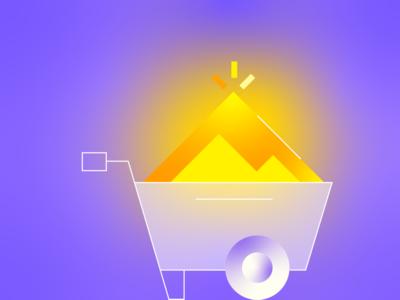 Gold Digger gold america web vector design illustration ui icon