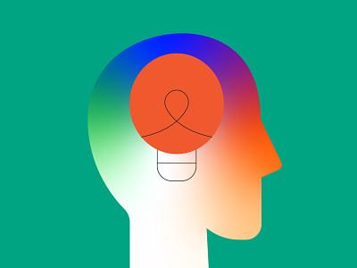 Idea brainstorm bingo light brain icons app sticker logo web vector design illustration ui icon