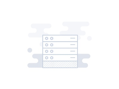 Server cloud storage grey icon data storage memory github server
