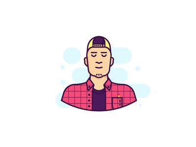 New avatar snapback self-portrait ui design logo icon