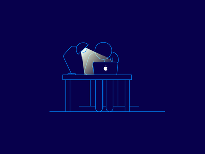 Boring Business Stuff #2 night apple search illustration vector ui icon workplace