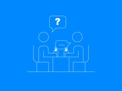 Boring Business Stuff #3 dialogue interview conversation ux ui vector design illustration icon