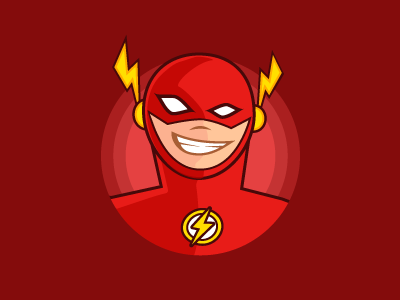 Flash avatar toon hero dc illustration superhero rebond comic flash
