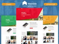 WebAble - Creative Agency PSD Template