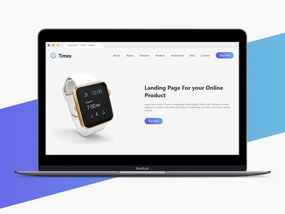 Timex - Landing page template